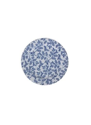 Porland Porland Blue Desen6 Düz Tabak 20cm Renkli